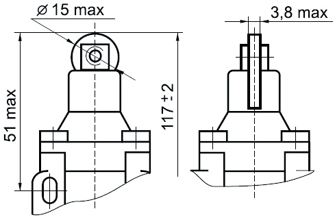 Габаритные размеры ВП15К21А -221